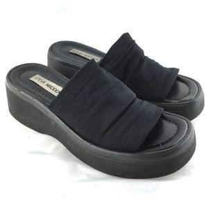Vintage 90s sandals chunky platform black slides